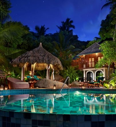 Spa pool by night