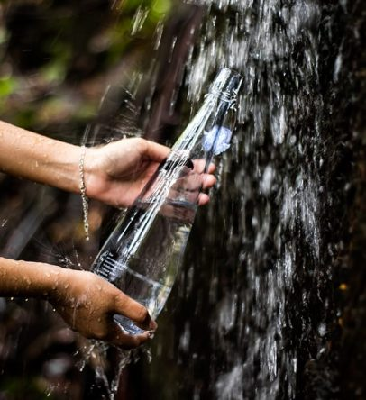 Water filtered from Mount Dauban's waterfall